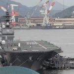 2016年7月に呉にやってきた護衛艦「いずも」