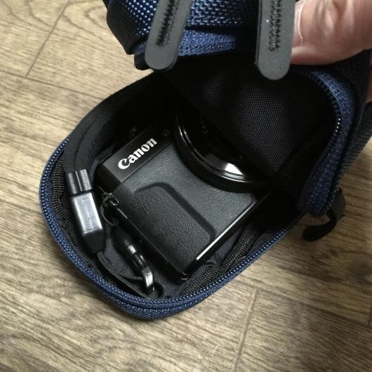ハクバ ピクスギア ツインパック カメラポーチ に G7X MarkII