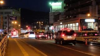 新己斐橋を渡った交差点で発生した事故