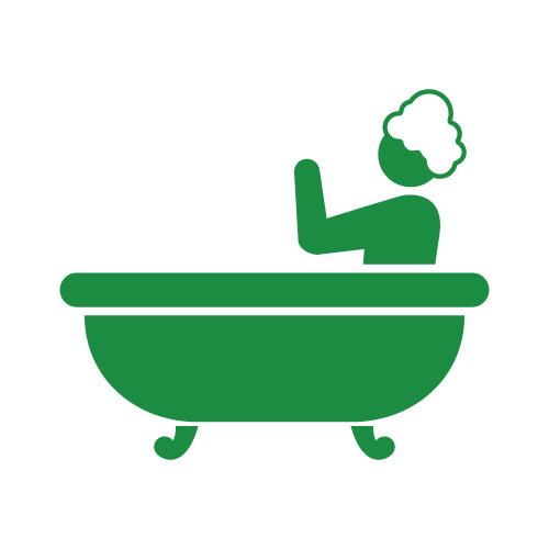お風呂に入るヒト(ヒューマンピクトグラム2.0より)