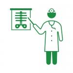 X線検査結果を説明する医師