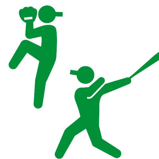 野球をするピクトグラムさん(ヒューマンピクトグラム2.0より)