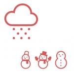 雪だるまたち(アイコン絵はICOOON MONOより)