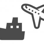 飛行機と艦(icooon-monoより)