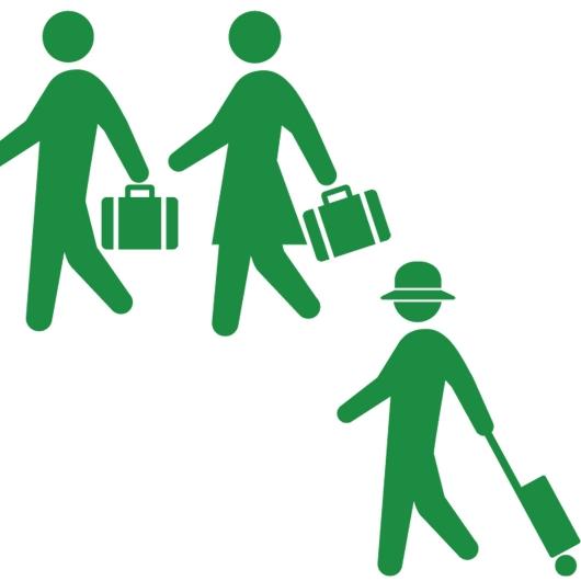 旅行する人たち(ヒューマンピクトグラム2より)