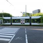 広電バスみたいな広電電車