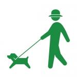 犬の散歩(ヒューマンピクトグラム2より)