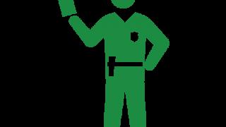 切符を切る警官(ヒューマンピクトグラム2.0より)