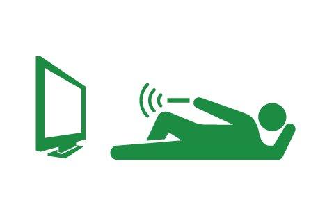 テレビを観る人(ヒューマンピクトグラム2より)