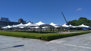 平和記念公園 式典準備中(2021年)